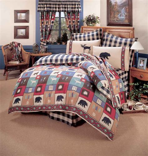 cabin bedding the woods comforter sets cabin and lodge bedding