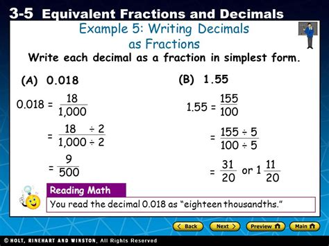 20 in decimal form objective you will learn how to convert between fractions