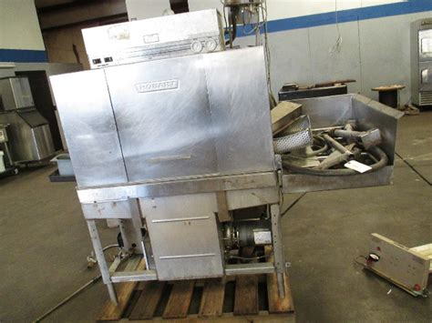 hobart stainless steel commercial dish washer pass  side load