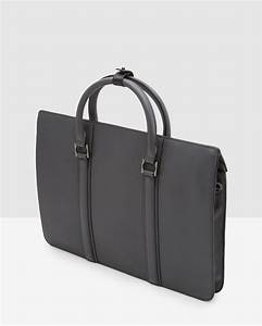 ted baker luxury leather document bag in gray for men lyst With ted baker leather document bag