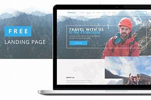 Mountains - Free Travel Landing Page PSD Template Free
