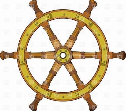Wheel Ship Clipart Steering Vector Nautical Wooden