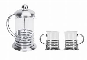 Tasse À Café Avec Support : ensemble 2 tasse a caf support inox avec cafetiere piston ~ Melissatoandfro.com Idées de Décoration