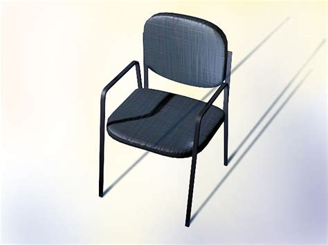 No wheels office chair 3d model 3dsMax,AutoCAD files free