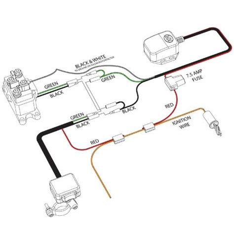 winch wireless remote kfi atv mounts and