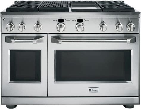 monogram zdpngpss   pro style dual fuel range   sealed dual flame stacked burners