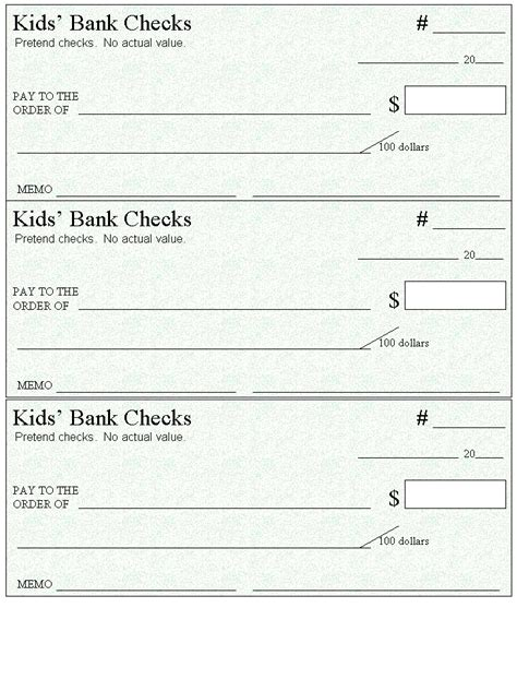 heres  page  blank checks    money