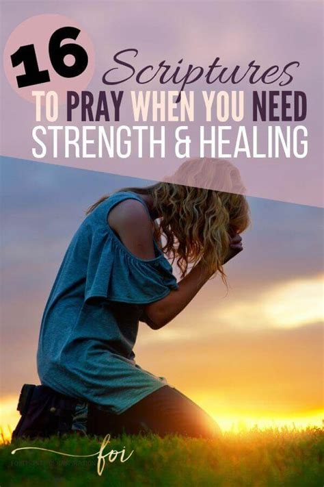 Grab these bible verses for healing and strength and meditate on them every day. BIBLE VERSES FOR STRENGTH AND HEALING - Footprints of ...