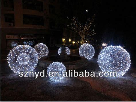 outdoor lighted christmas ball  mas christmas tree