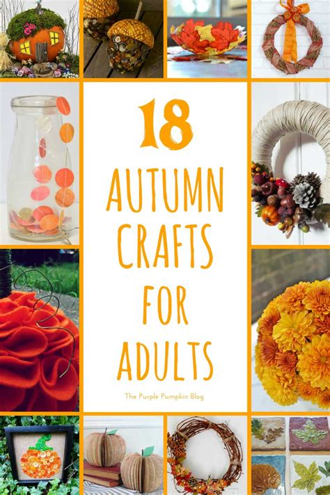 autumn crafts for adults seasonal crafts archives 187 the purple pumpkin blog