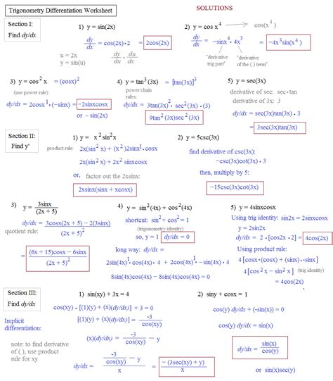 math plane derivatives trigonometry functions