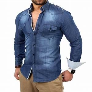 Herren Jeans Auf Rechnung : wam denim jeans herren hemd mit nieten style w 85089 1 jeanshemd blau neu ebay ~ Themetempest.com Abrechnung