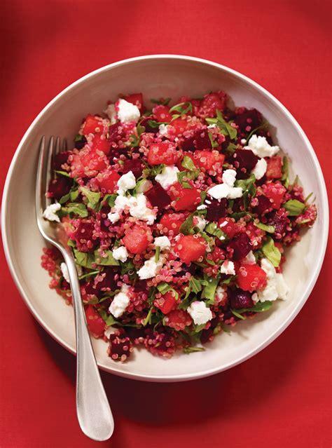 abonnement cuisine et vins de salade de quinoa au melon et aux betteraves ricardo