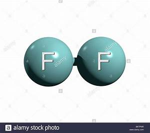 Fluormolek U00fcl F2    Fluorine Molecule F2 Stock Photo