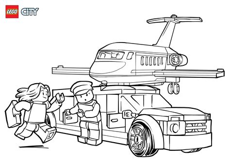 Vliegveld Kleurplaat by Airport Vip Service Coloring Pages Lego 174 City Lego