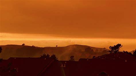 wildfires cast eerie orange shade  bay area skies