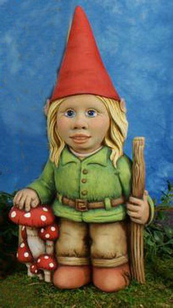 tallula girl gnome ceramic gnomes  paint gnome