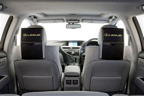 lexus introduces premium rear seat entertainment