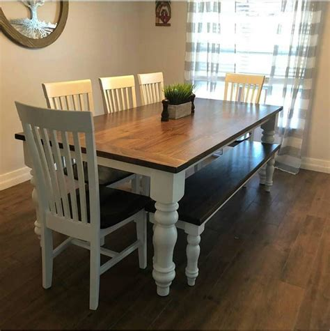A friend sent me a picture of a coffee table from a really expensive furniture company. 16 Chunky Farmhouse Bench Legs or Coffee Table Legs   Etsy in 2020   Farmhouse dining, Farmhouse ...