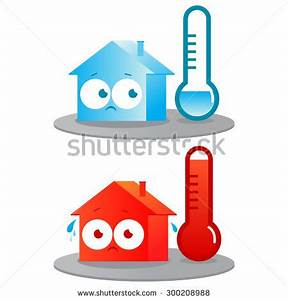 Very Hot Cold House Badly Insulated Stock Illustration ...