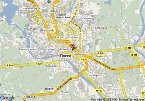 Map Of Dhaka Sheraton Hotel, Dhaka