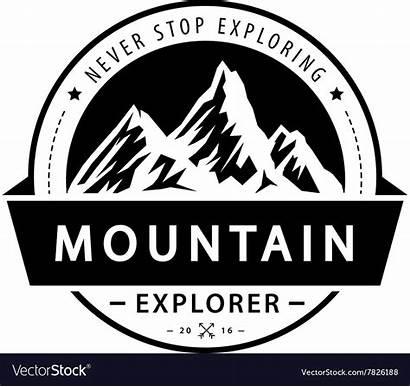 Mountain Adventure Vector Emblem Retro Royalty Illustration