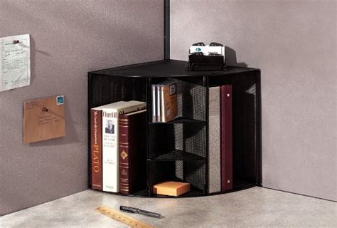 corner desk with shelves office storage shelves document desk wall organizer mesh