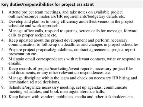 Salon Manager Roles And Responsibilities by Project Assistant Description