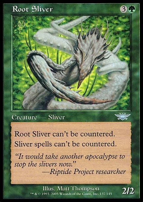 Mtg Sliver Deck Build by Root Sliver Mtg Card