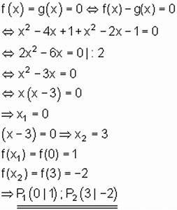 Schnittpunkt Zweier Geraden Berechnen : schnittpunkt parabel parabel ~ Themetempest.com Abrechnung