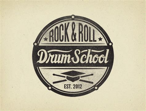 Logo Design For 'rock & Roll Drum School'