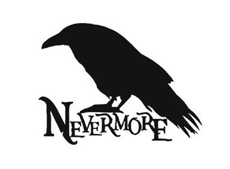without crows nevermore decal edgar allan poe poem