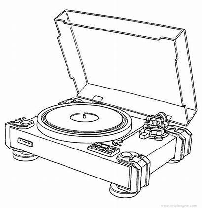 Pioneer Pl Record Player Turntable Drawing Table