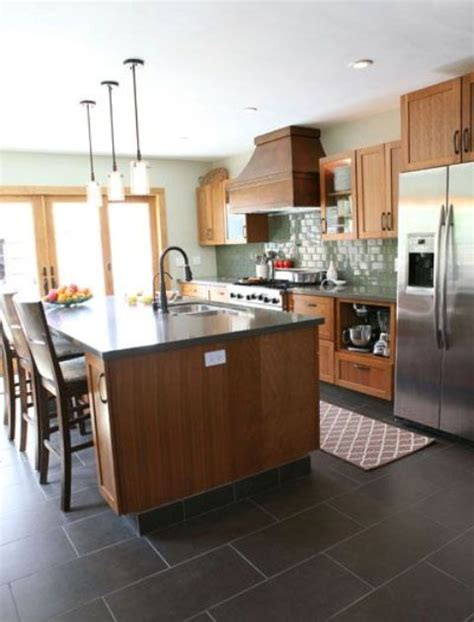 black tile kitchen floor 3 floors types and 26 ideas to pull them digsdigs 4753