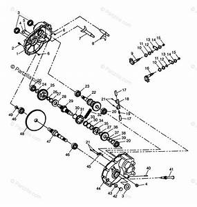 Polaris Atv 1998 Oem Parts Diagram For Gearcase Xplorer