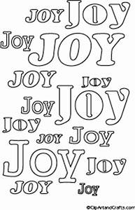 printable bubble letters joy word art poster to color With color joy letters