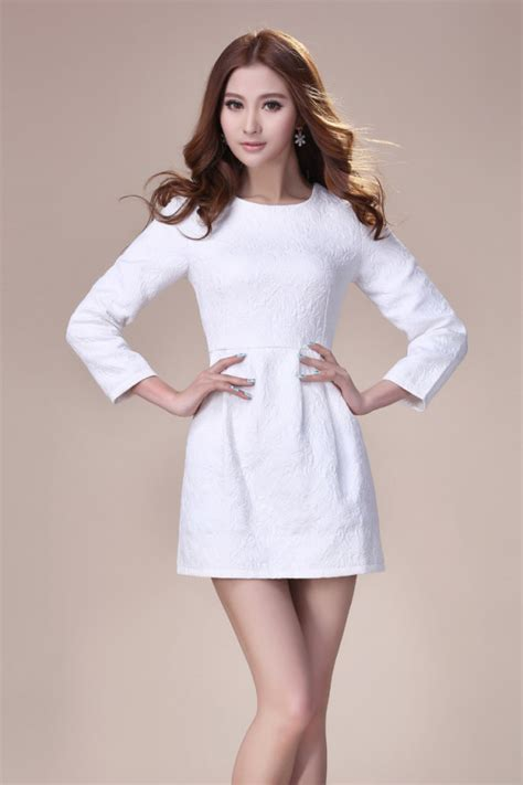 winter white black pullover small fragrant dress women