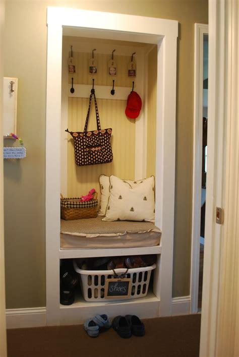 bathroom renovation ideas small space no mud room no problem turn a closet into a mini mud room