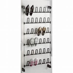 Range Chaussures De Porte : rangement chaussures de porte 18 paires achat vente housse de rangement acier pvc polym re ~ Melissatoandfro.com Idées de Décoration