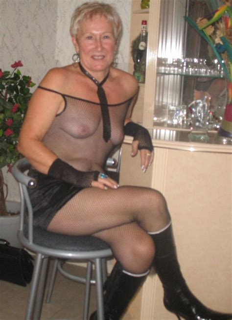 Mature Saggy Grannies Proudly Wearing See Thru 9 High