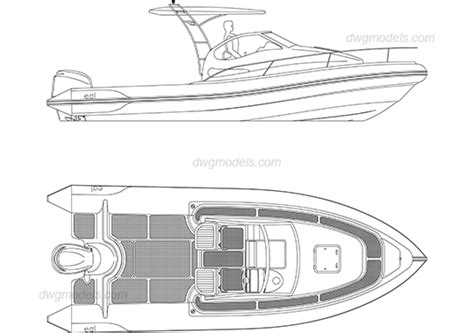 Boat Anchor Dwg by Motor Boat Dwg Free Cad Blocks