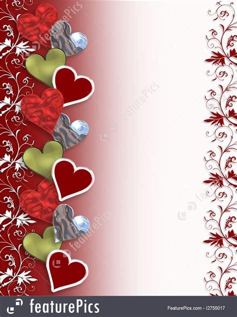 illustration  valentine hearts border