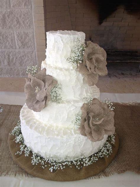 burlap wedding cakes  rustic country weddings