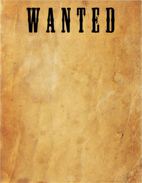 wanted template how to make a classic quot wanted quot poster printaholic