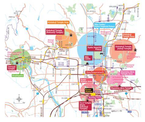 kyoto map   major areas jtb singapore