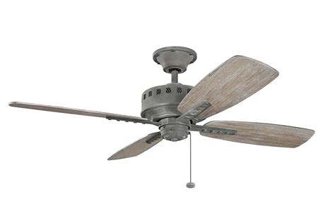 weathered gray ceiling fan kichler 310135wzc weathered zinc 52 quot indoor ceiling fan