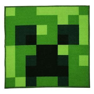 Minecraft Bedroom Rug by Minecraft Creeper Square Rug Bedroom Green