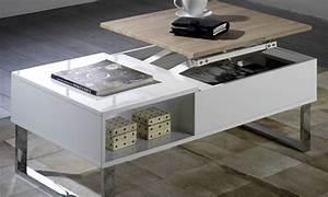 Table Basse Avec Plateau Relevable : table basse avec plateau relevable groupon shopping ~ Teatrodelosmanantiales.com Idées de Décoration