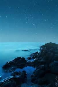 Ocean Night Sky Stars