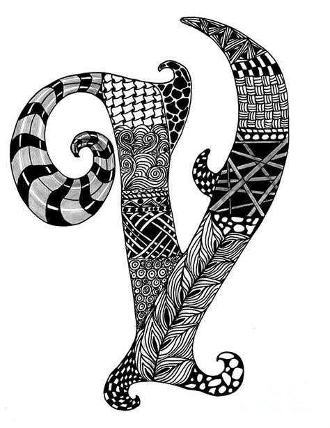 zentangle letter y monogram drawing zentangle alpha zentangle letter v monogram drawing zentangle alpha 87671